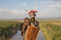 African tribal woman and child