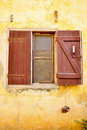African window  with Korabani hanging Royalty Free Stock Photos