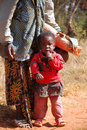 An African woman with her children 06