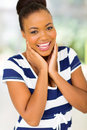 African woman laughing beautiful american Royalty Free Stock Images