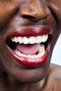 African woman screaming Stock Photos