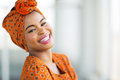 African woman traditional attire happy wearing Stock Image