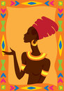African woman vector illustration of Royalty Free Stock Photo