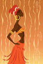 African woman vector illustration of Royalty Free Stock Images