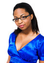 African Woman Wearing Eyeglasses Royalty Free Stock Images