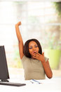 African woman yawning Stock Photography