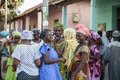 African women gathering gabu guinea bissau march for a wedding cerimony Royalty Free Stock Image
