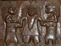 African Wood Relief Carving Yoruba Royalty Free Stock Photo