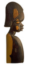 African wood sculpture Royalty Free Stock Photo