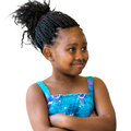 African youngster looking aside isolated. Royalty Free Stock Photo