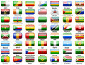 Africans flags of countries Stock Images