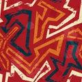 Afrikaans geometrisch naadloos patroon met grungeeffect Stock Afbeelding