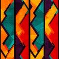 Afrikaans geometrisch naadloos patroon met grungeeffect Royalty-vrije Stock Foto's