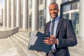 Afro American businessman Royalty Free Stock Photo
