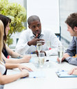 Afro-American businessman interacting Royalty Free Stock Photo