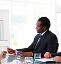 Afro-American businessman in a meeting Royalty Free Stock Photo
