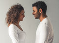 Afro American couple Royalty Free Stock Photo