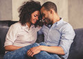 Afro American couple at home Royalty Free Stock Photo