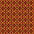 Afro Geometric Ankara Pattern