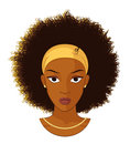 Afro Girl with Curly Hair