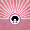 Afro lady with retro concept vector Stock Images