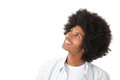 Afro man daydreaming Stock Images
