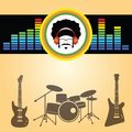 Afro man listen music vector Stock Photography