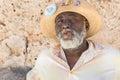 Afrocuban man smoking a cigar in Old Havana Royalty Free Stock Photo