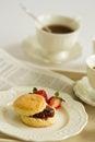 Afternoon tea break , cream tea , tea party