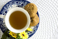 Afternoon tea set on top Royalty Free Stock Photo