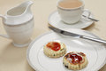 Afternoon tea with Welsh cakes Stock Photos