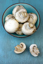 Agaricus bisporus on table Stock Photo