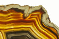 Agate gemstone close up of a slice Royalty Free Stock Photography