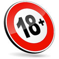 Age restriction sign Royalty Free Stock Photo