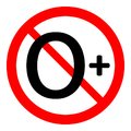 0 age restriction sign. Royalty Free Stock Photo
