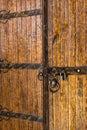 Aged antique decorated wooden door