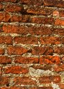 An aged brick wall texture background Royalty Free Stock Photo