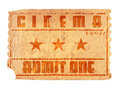 Aged cinema ticket Stock Photos