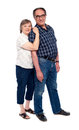 Aged couple full length shot Obraz Royalty Free