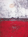 aged and decayed concrete surface in red and white Royalty Free Stock Photo