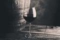 Aged fine wine glass Royalty Free Stock Photo
