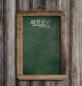 Aged green menu blackboard Stock Photos