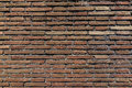 Aged grunge red brick wall texture as background Royalty Free Stock Photo