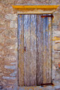 Aged grunge wood stripes door sea weathered Royalty Free Stock Photography