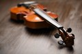 Aged handmade violin Royalty Free Stock Images
