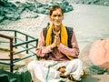Aged Indian sadhu