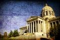 Aged Missouri State Capital Royalty Free Stock Photo