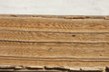 Aged pages of the book. Closeup. Royalty Free Stock Photo