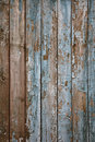Aged painted wooden fence, naturally weathered Royalty Free Stock Image