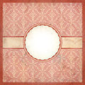 Aged pink vintage lace frame dirty paper Royalty Free Stock Image